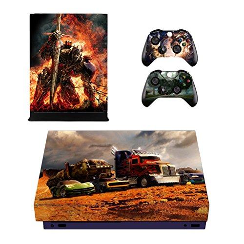 Zhuhaijq Vinyl Skin Sticker Aufkleber Schutzhülle für Xbox One X console Skin + 2 Xbox One X Controller Skin Sticker Aufkleber (Gebläse-controller)