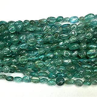 Jewel Beads Natural Beautiful jewellery 1 Strands Natural Blue Apatite Fluorapatite Nugget Free Form Fillet Irregular Pebble Beads 15