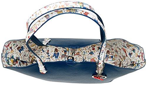 piero guidi Busta, Borsa Tote Donna, 34.5 x 29.5 x 14 cm (W x H x L) Blu (Vela)