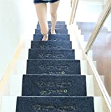 WXFC Massivholz Hause treppen pad Schritt Matte pad wendeltreppe pad Rutschfeste Gummi Selbstklebende pad, 9