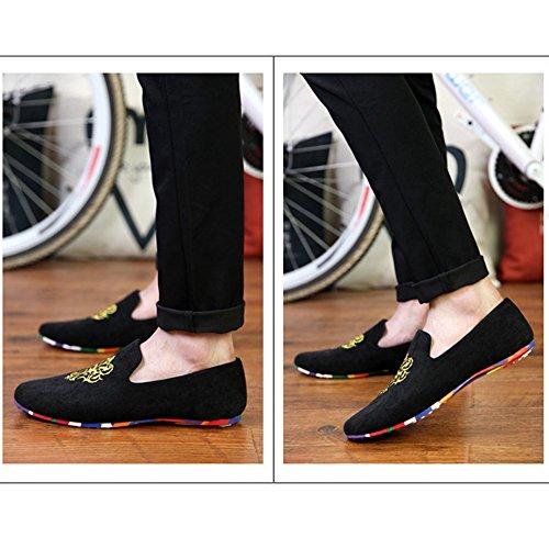 AARDIMI Pantofole Uomo Nero