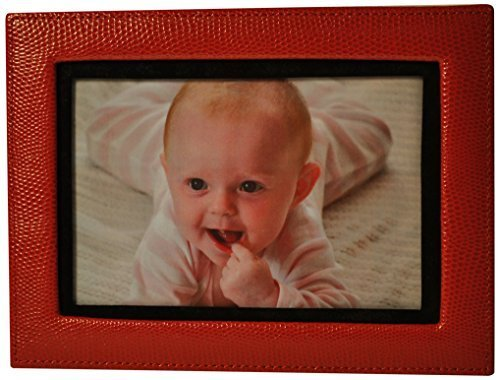 budd-leather-lizard-print-calf-photo-frame-4-by-6-inch-red-by-budd-leather