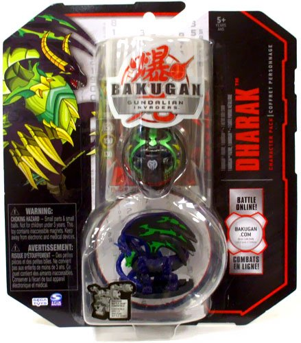 Bakugan Gundalian Invaders S3 Character Pack Dharak with 1 Bakugan Figure, 1 Bakugan and 1 Metal Gate Cards