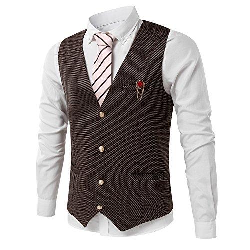 Sunshey 2017 Neu Herren Slim Fit Anzugweste für für Hochzeit Fest Business super Qualität Khaki