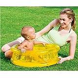 LLFFDC Baby Aufblasbares Pool Kinderspielzeug Planschbecken Badewanne, 64 x 25cm, Gelb