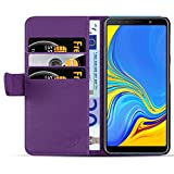 JAMMYLIZARD Lederhülle für Samsung Galaxy A7 2018 | Ledertasche [ Classic Wallet Tasche Series ] Leder Book Case Hülle Flip Cover Schutzhülle mit Kartenfach, Lila