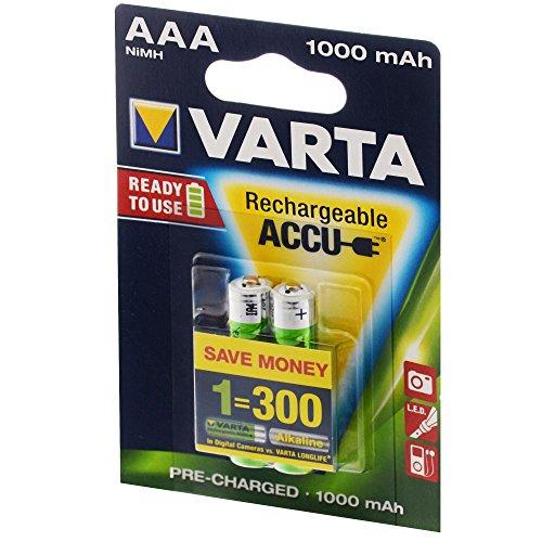 Preisvergleich Produktbild VARTA Ready2Use Akku Mikro AAA 1000 mAh 2er Pack Accu Micro NiMH, 05703