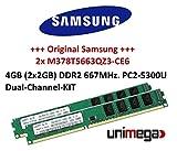 Samsung Original Dual Channel 2X 2GB = 4GB 240Pin DDR2–667DIMM (667MHz, PC2–5300) m378t5663qz3CE6Double Side per sistemi DDR2PC Computer