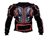 BOHMBERG Body Protector Safty Jacket Protektoren Hemd Brustpanze Motorrad Schutz Protektoren Motorradjacke Hemd Brustschutz Fallschutz Schutzjacke (M, Rot)