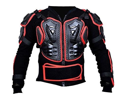 BOHMBERG Body Protector Safty Jacket Protektoren Hemd Brustpanze Motorrad Schutz Protektoren Motorradjacke Hemd Brustschutz Fallschutz Schutzjacke (M, Rot) (Bmx-brustschutz)