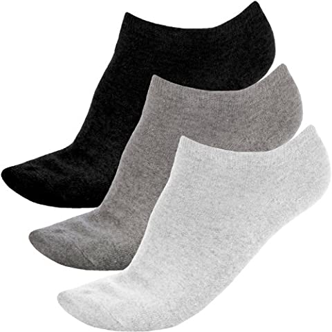 3 Pair Pack of Prince Pro Tour Womens Ankle Trainer Sport Socks - 4-8UK