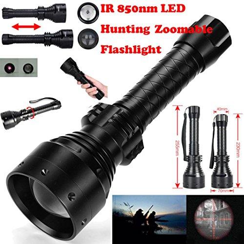 LED Taschenlampe,Long Range Infrarot 10W IR 850nm T67 LED Jagd Licht Nachtsicht Taschenlampe Long Range Ir
