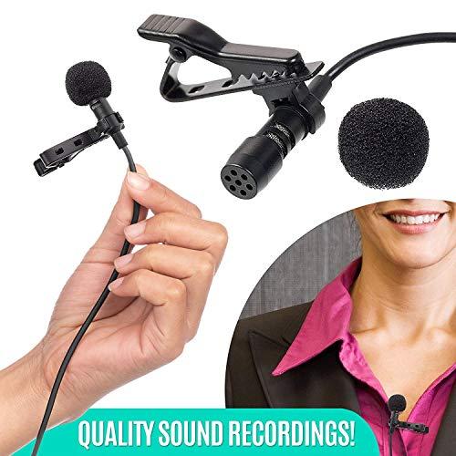 Preisvergleich Produktbild ZUZU Ultimate Lavalier Microphone für Blogger und Vloggers Lapel Mic Clip-on Omnidirectional Condenser für iPhone Ipad Samsung Android Windows Smartphones