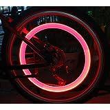 2 Stück Fahrradreifen Led Licht für Fahrradventile Fahrradventilkappen mit LED rot Fahrrad Reifenlicht