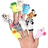 LEORX Animales de la dedos títeres muñecos Soft accesorios juguetes - 10pcs (patrón aleatorio)