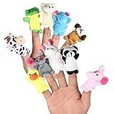 LEORX Animales de la dedos títeres muñecos Soft accesorios juguetes - 10pcs (patrón aleatorio) - LEORX - amazon.es