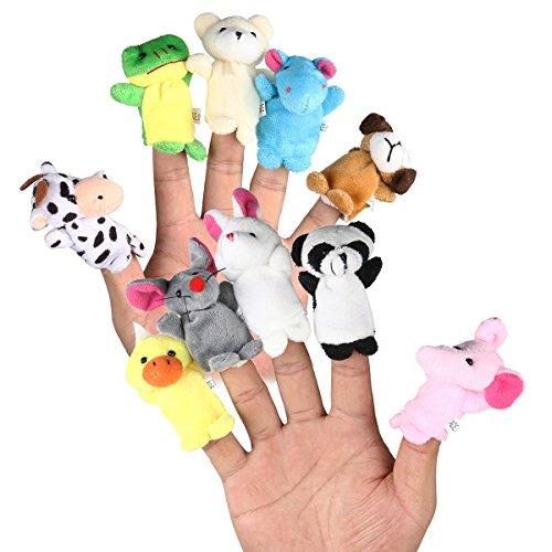 LEORX Animales de la dedos títeres muñecos Soft accesorios juguetes - 10pcs...
