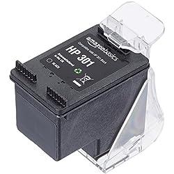 AmazonBasics - Cartucho de tinta regenerado, HP 301, negro