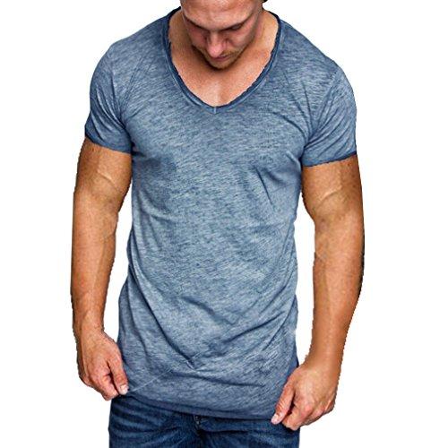 Uomo t-shirt maniche corte giro collo t-shirt colore puro giuntura tops modo degli uomini slim fitness lo sport casual maglietta m - 4xl