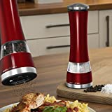 from Morphy Richards Morphy Richards Accents Electronic Salt and Pepper Mill - Red Model 974221