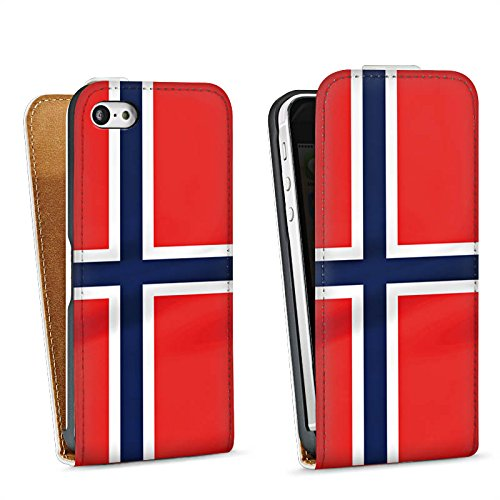 Apple iPhone 4 Housse Étui Silicone Coque Protection Norvège Norway Drapeau Sac Downflip blanc
