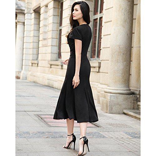 1930s Style Dresses   30s Art Deco Dress Wicky LS Womens Short Sleeve V neck Long Fishtail Skirt £26.99 AT vintagedancer.com