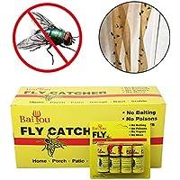 Wildlead 4/8/12 / 16pcs mouche bande de papier collante forte colle insectes volants insectes moustiques ruban adhésif