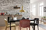 Komar - Fototapete WHITE BRICK - 368 x 254 cm - Tapete, Wand Dekoration, Steinwand, Steinoptik, Backsteinwand - 8-882