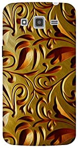 The Racoon Lean gold weave hard plastic printed back case for Samsung Galaxy Grand