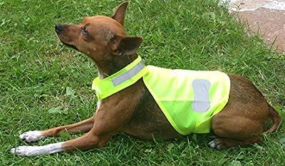 TTGH Warnweste Hund Hundewarnweste Reflektorweste mit Klettverschluß Hundeweste
