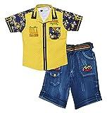Kids Era Cotton Outfits & Clothing Set (Ke3129 Yellow--5-6 Years_Yellow_5-6 Years)