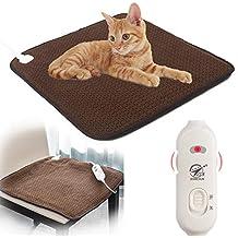 ERIKO 24W Cojín de calefacción para Mascotas para Perros y Gatos eléctricos, 7 Niveles de