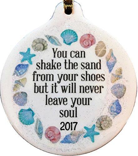 e Sand von Schuhen 2017aber es will never Leave Your Soul Porzellan Christmas Ornaments Keramik Neuheit Funny Porzellan Hänger Weihnachten Weihnachtsbaumschmuck (Personalisierte Braut Hanger)