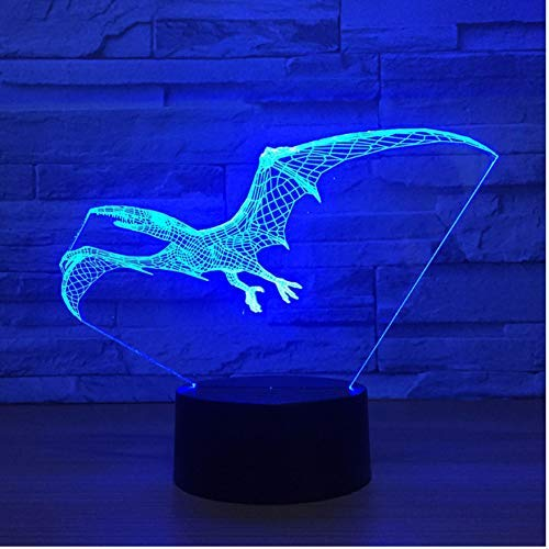 htlicht Fliegen Dinosaurier Drachen 3D Lampe USB Led Lampe Tier Pterosaur Flügel Tisch Nachtlicht Kinder Geburtstagsgeschenk Beleuchtung Drop Shipping ()