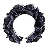 Dark Dreams Gothic Steampunk Haarband Haarreif Kopfschmuck schwarze Rosen schwarz -