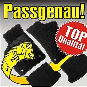 Preisvergleich Produktbild Imperial KFZ Velours Paßform Fußmatten Autofussmatten Autoteppiche für Citroen 2 CV 2CV Ente bis 12.90 Mattenfarbe schwarz