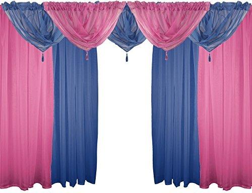 ciliegia-blu-scuro-9-piece-velo-set-54-137cm-canale-bordo-superiore-per-bastone-tende-drappi-drappeg