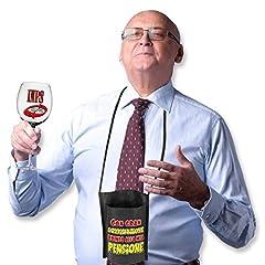 Idea Regalo - Bombo Bicchiere per la Pensione con portabicchiere