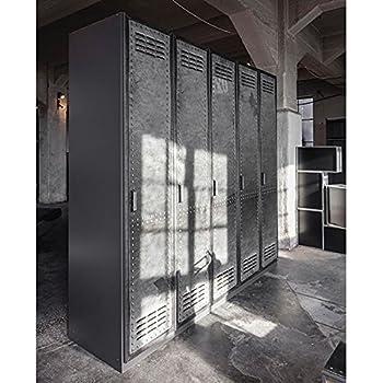kleiderschrank 4 dreh t ren b 181 cm industrial print optik schrank dreht renschrank. Black Bedroom Furniture Sets. Home Design Ideas