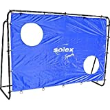 Fußballtor mit Netz und Torwand – Solex Soccer Goal 2in1 Set - Kinder Tor und Torschusswand für Fussballtraining, Schusstraining und Torwandschießen draußen im Garten