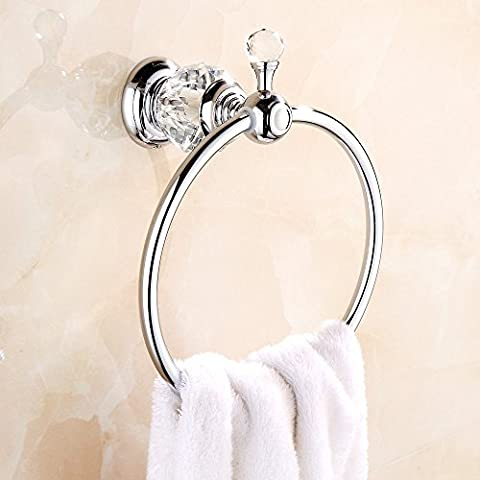 MANCEL Crystal-Series Towel Ring Wall Mounted Multi towel holder for