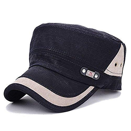 Minetom Homme Femme Chapeau Armée Militaire Casquette de Baseball Cadet Cap Visière Réglable Trucker Distressed Washed Hat