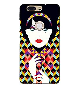 Fuson Designer Back Case Cover for Huawei Honor V8 (Colourful lady theme)