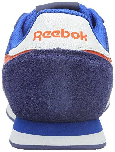 Reebok Classic Jogger, Baskets Basses Homme Bleu - Blau (Blue Sport/Midnight Blue/Energy Orange/White)