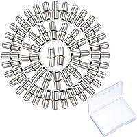 5 mm Metall Regalstütze Pin Bodenträger Geteilte Regalstifte 50 Packung für Schrankmöbel mit Aufbewahrungsbox