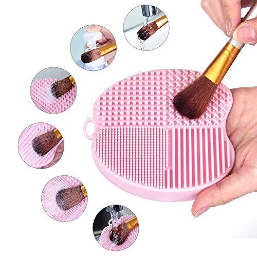 MelodySusie Make up Pinsel Reiniger für Kosmetikpinsel / silikon Pinsel Reinigungsmatte / pinselreiniger matte / 4 Finger Make-up Pinsel Reinigung - Pinsel Finger,
