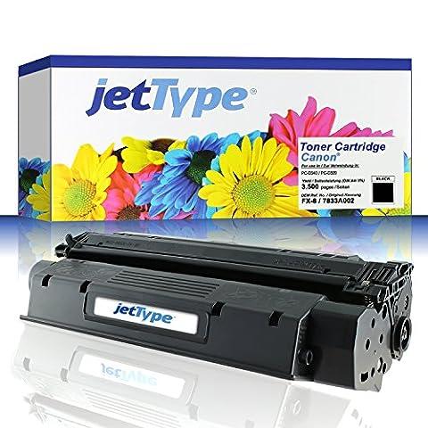jetType Toner remplace Canon FX-8 / 7833A002 pour PC-D340 / PC-D320, noir, 3.500 pages