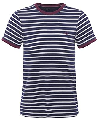 Fred Perry Breton Stripe T-Shirt Blue