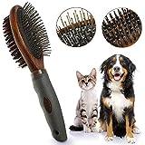 OneBarleycorn - Peigne double face pour chien, brosse de toilettage de chien pour...