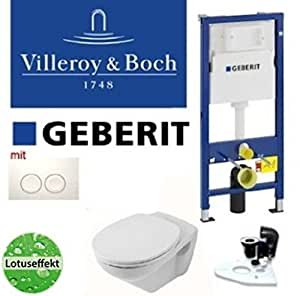 Geberit duofix set complet wC villeroy boch & lotusclean